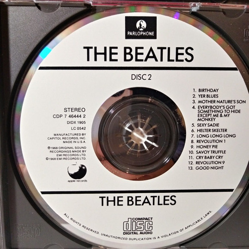 the beatles white album 2 cd 1ra partida usa, impecable