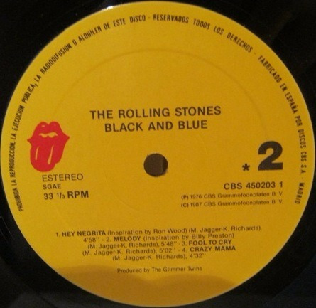 the rolling stones black and blue vinilo rock cbs 450203 1