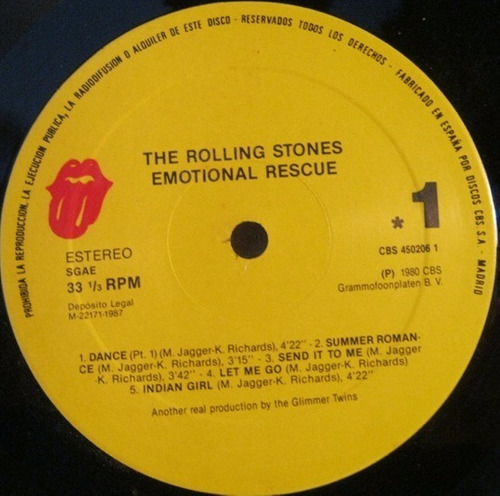 the rolling stones emotional rescue vinilo rock importado