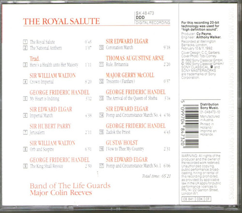 the royal salute band of the life guards - marchas -  cd