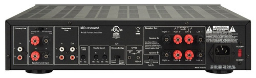 the russound p125 2 channel dual source 125w
