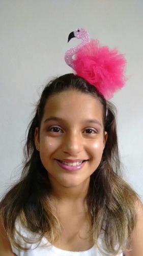 tiara coroa carnaval flamingo