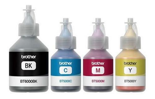 tinta brother original para sistema continuo. kit 4 tintas