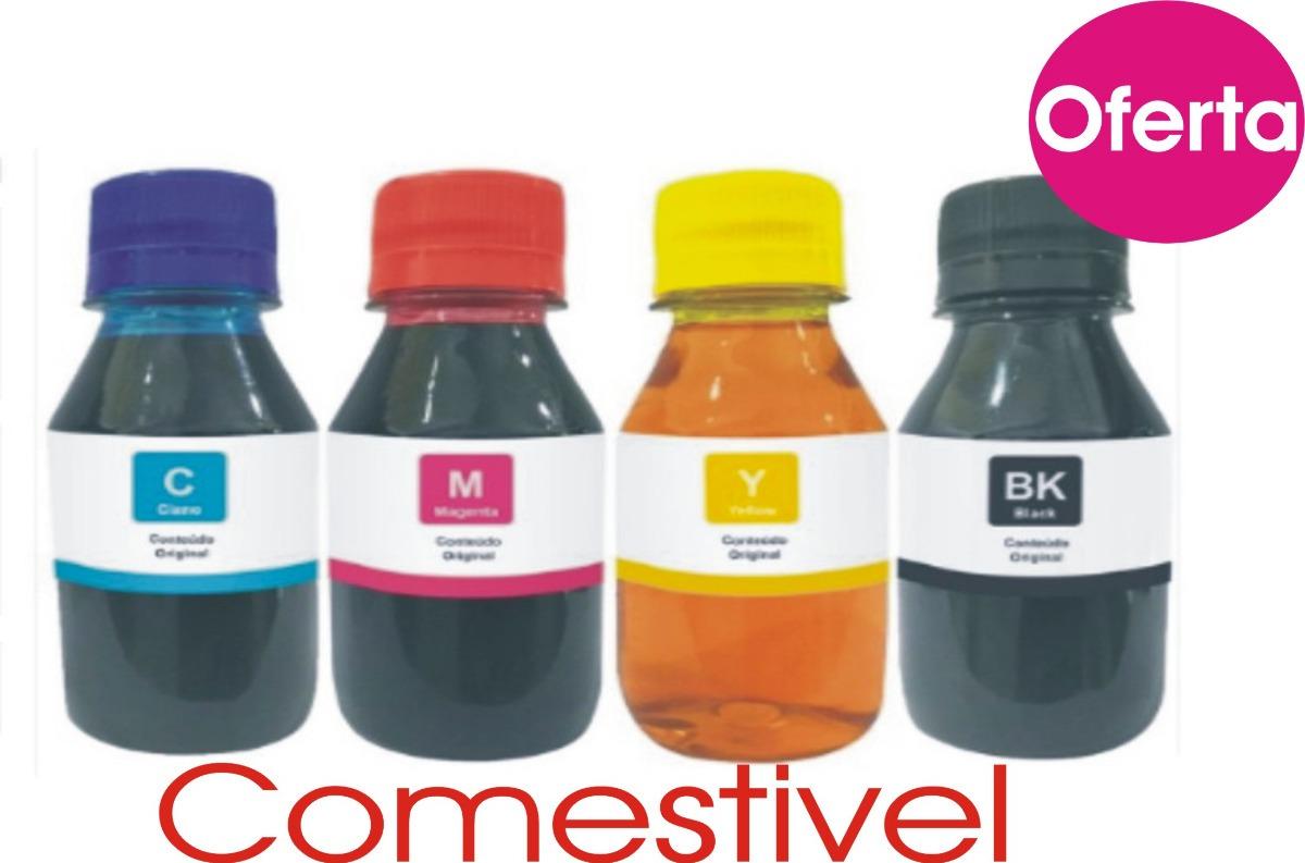 Tinta Comestivel Epson L120 Kit 400ml Papel Arroz Bulk Ink R 68 Carregando Zoom