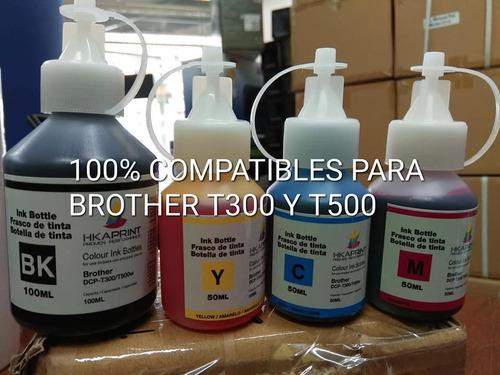 tinta para impresora brother t500 t300 100% compatibles.