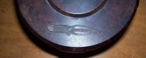 tintero de vidrio antiguo - tapa de baquelita