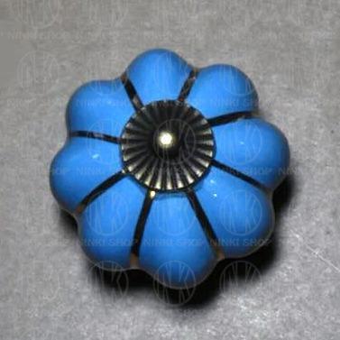 tirador de cerámica flor manija cajones muebles perilla
