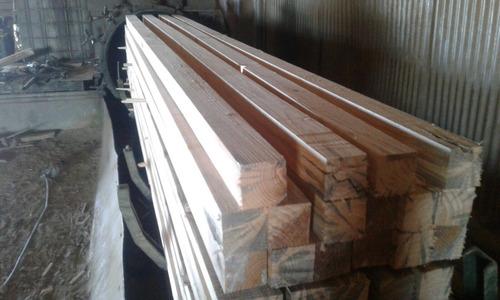 tirante cca 4x4x3,30  madera tratada curado poste piso muro