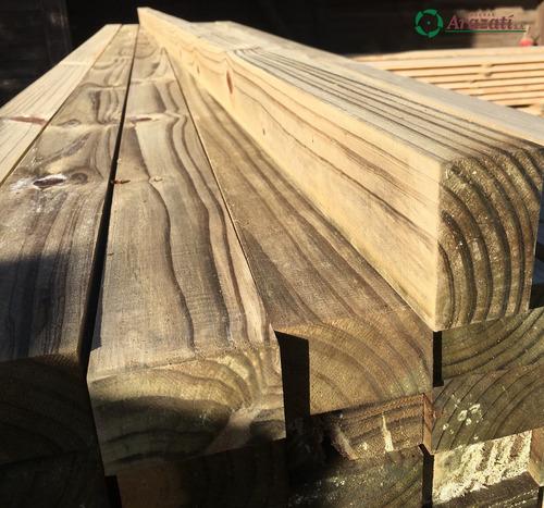 tirante tratado cca 2x3x2,1m - pino curado - arazati maderas