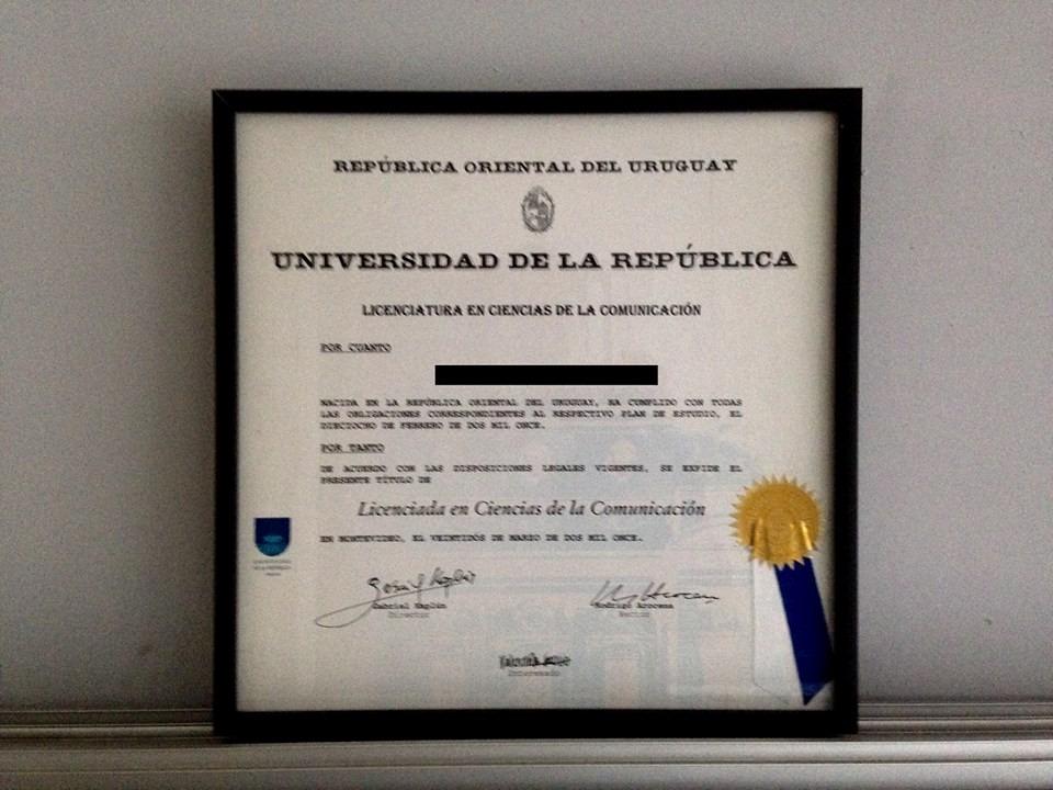 Titulo O Diploma Enmarcado - $ 460,00 en Mercado Libre