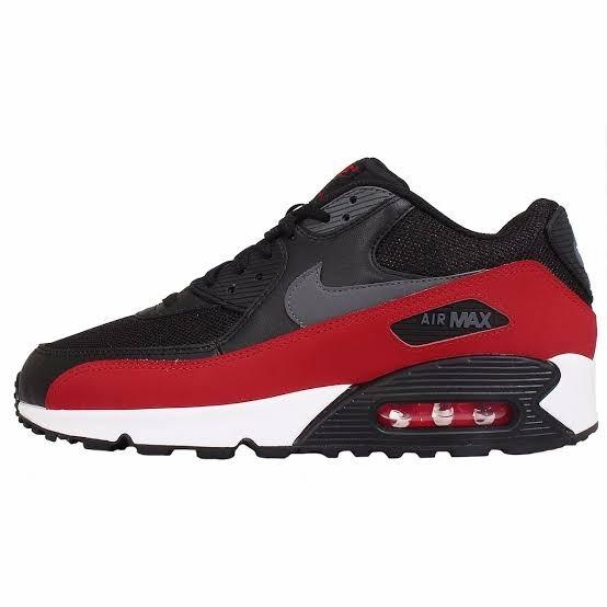 3bf40473f28 tenis nike air max 90 preto e vermelho
