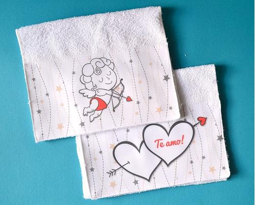 toalla de mano personalizada x2!- regalo boda- san valentin
