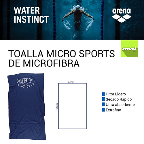 toalla térmica arena de microfibra piscina natación 60x100
