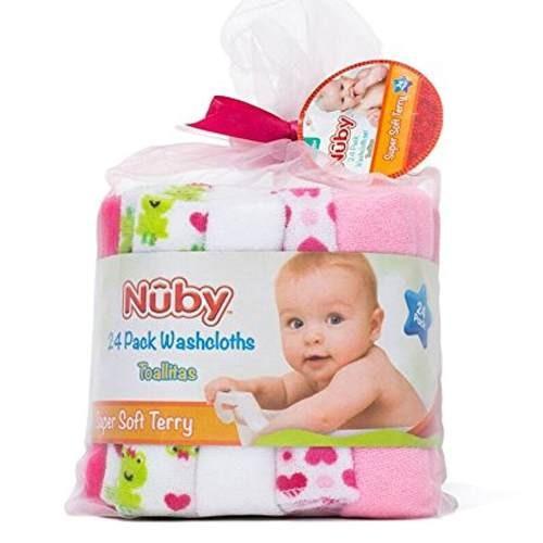 toallitas babitas pack 24 nuby rosa- bebés y niños