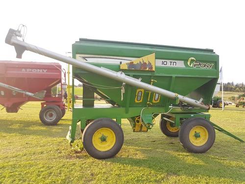 tolva abastecedora semilla / fertilizante -10t.