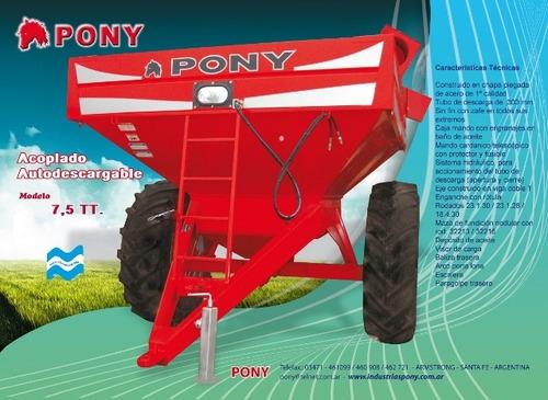 tolva autodescargable pony 8 ton