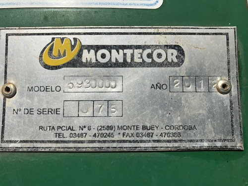 tolva montecor limited 28000 lts balanza  muy buen estado