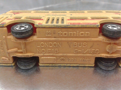tomica - london bus de 1977 escala 1/130 m.i. japan