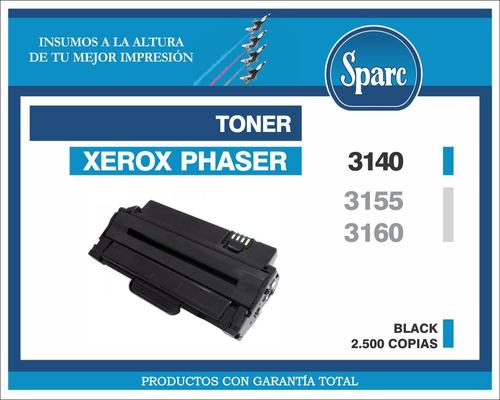 toner compatible nuevo xerox phaser 3140/3155/3160 - sparc