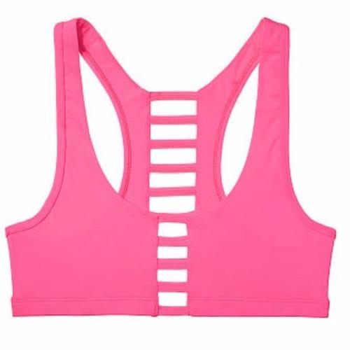 top deportivo pink by victoria´s secret fucsia tiritas