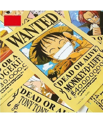 topbill anime one piece pirates wanted pósteres 11pcs set