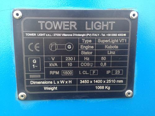 torre de iluminación diésel tower light. como nueva!!!