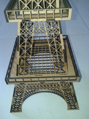 torre eiffel mdf 3mm, 65cm altura para montar