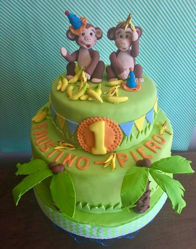 torta cumpleaños mono jorge