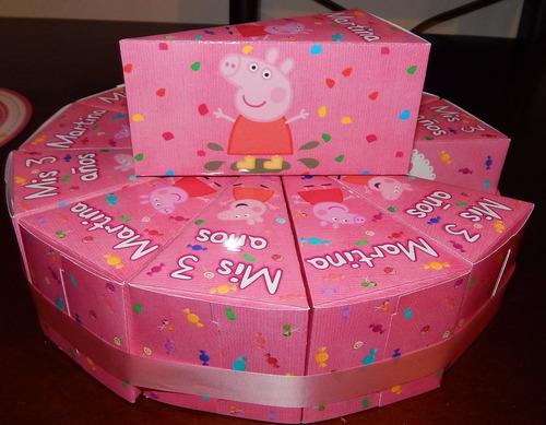 torta de cajitas para golosinas personalizadas