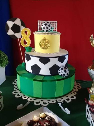 torta falsa goma eva futbol (por pedido)