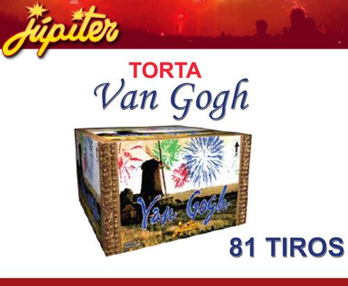 torta jupiter van gogh 81 tiros fuego artificial baterias st