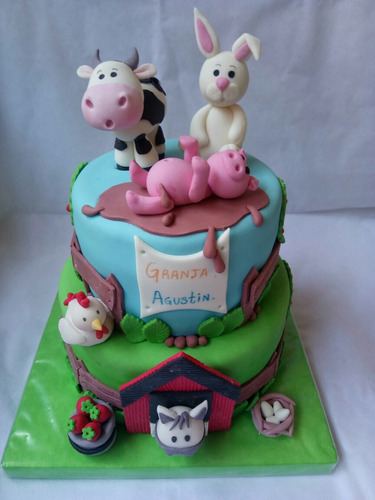 tortas animales granja zenon niñas niños infantiles fondant
