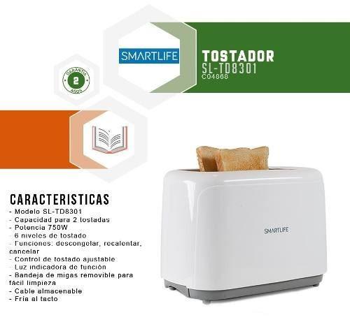 tostadores smartlife sl-td8301 fria al tacto 750w -  fama