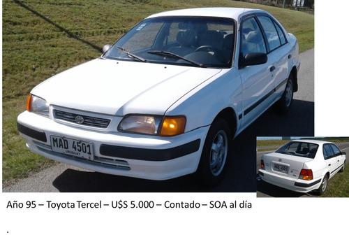 toyota tercel año1995 u$s5000(dólares)