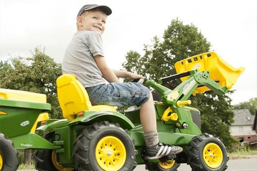tractor con zorra a pedal sistema a cardan calidad europea