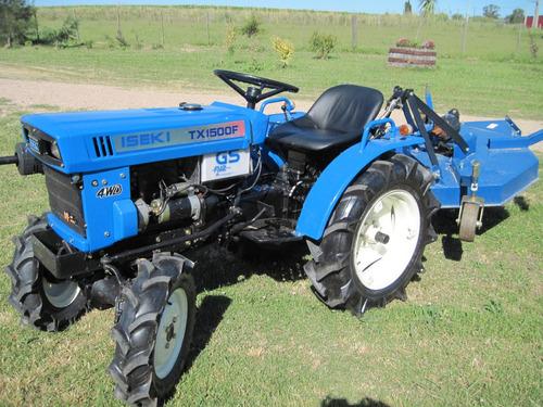tractor iseki tx 1500  4x4 con chirquera nueva incluida !!!