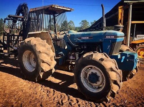 tractores ford 6610 4x4 con grapo botex.