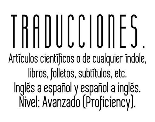 traducciónes / translations (español - english)