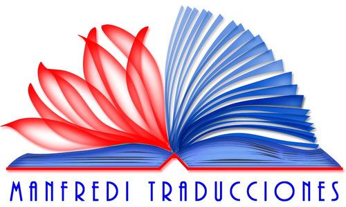 traductor público inglés-español manfredi traducciones