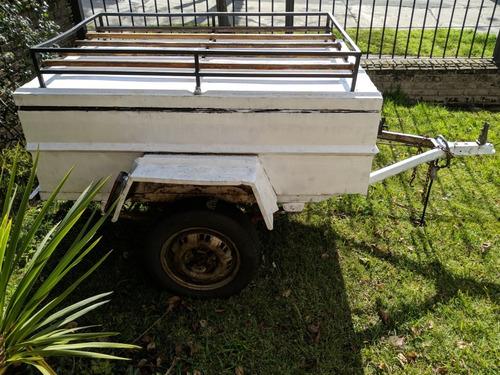 trailer batan con tapa y baca ideal viajes