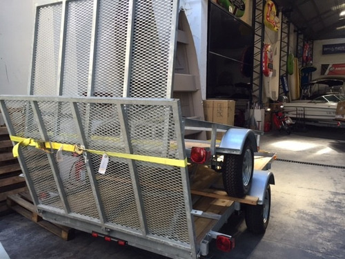 trailer carga chata galvanizado madera rampa cuatri motos