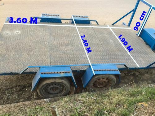 trailer, chata doble eje, carga