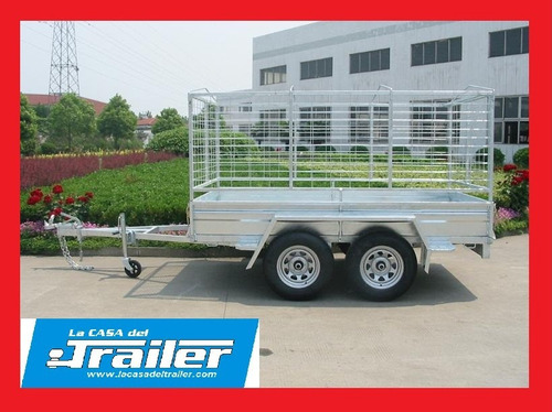 trailer doble eje hasta 2000 kg con freno