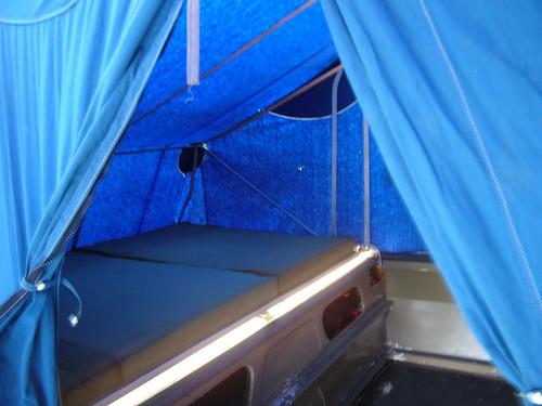 trailer fibra vidrio con carpa automatico y avance 2 metros