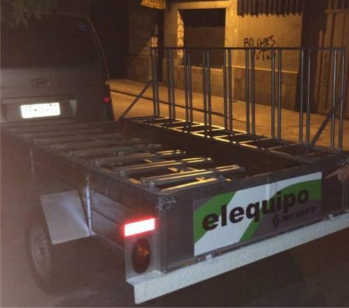 trailer para 9 bicicletas y 500kg de carga