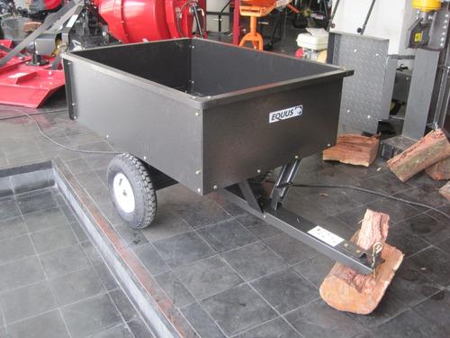 trailer zorra equus para cuatriciclo o tractor