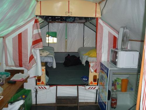 trailers carpa con avance para 4 personas