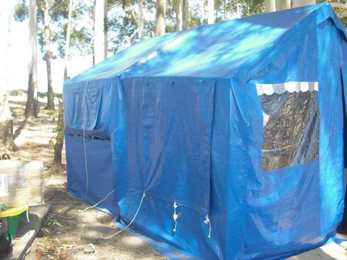 trailers carpa impecable con heladera y baño quimico