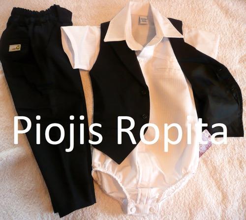 traje bautismo casamiento fiesta negro nene con o sin camisa