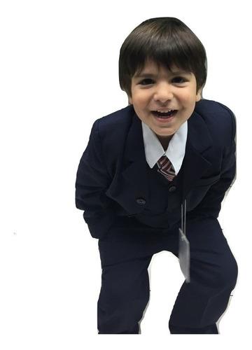 traje niño completo con chaleco camisa y corbata